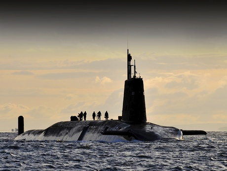 Nuclear submarine HMS Vanguard arrives at HM Naval Base Clyde, Faslane, Scotland. Source: http://www.defenceimagery.mod.uk/ Open Government Licence
