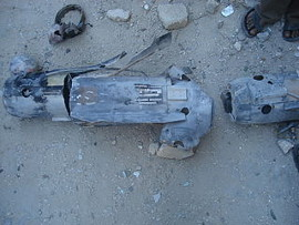 The remains of a AGM-114 Hellfire anti-tank missile. Gaza, January 22, 2009. Al Jazeera English https://www.flickr.com/photos/aljazeeraenglish/3309665516/